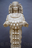 Marble statue of Mother Goddess Artemis Lady of Ephesus at Selcuk Museum Turkey