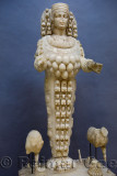 Full view of statue of the Mother Goddess Artemis of Ephesus at Selcuk Museum Turkey