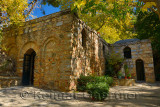 Restored stone house of the Virgin Mary on Nightingale mountain near Ephesus Turkey