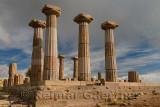 Doric column ruins of the temple of Athena of Assos Behramkale Turkey
