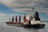 Monrovia bulk carrier ship in the Dardanelles Turkey heading for the Aegean Sea