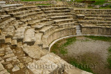 Excavated and restored Odeon theatre of Troy at Hisarlik Turkey