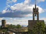 Cucuron, castle and church