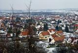 un village blanchi par la neige