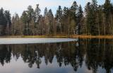 ice melts slowly on the lake