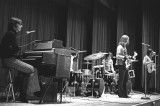 Five Man Electrical Band (Ted Gerow on keys) performing in the SCS auditorium - 2 drummers