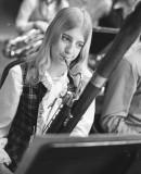 Barb Doerksen on bassoon