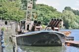 A dumb barge.
