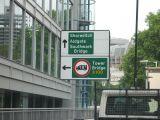 Turn left for the bridge.