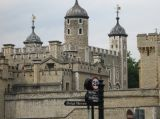 The Tower of London from the bridge approach road.