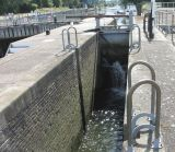 Showing the depth of the skiff lock.