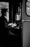 The Zen Old Train Conductor, B&W