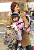 Fierce Oca-San Cyclist, Not So Convinced Toddler...