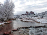 Cathedral Rock and Oak Creek in the Snow