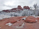 Cathedral Rock after a Winter Snowfall