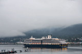 Holland America Line ship Oosterdam, leaving Juneau