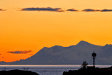 Looking across Cook Inlet, from the Seward Highway