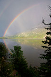 Rainbow over Jenny Lake