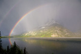 Rainbow over Teewinot Mountain, Jenny Lake