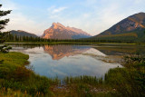 Mount Rundle reflected in the 1st Vermillion Lake
