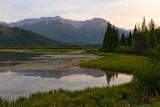 Eagle Mountain and Mount Howard Douglas beyond the 1st Vermillion Lake