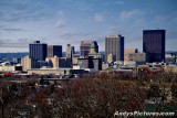 Downtown Dayton from Lookout Point at Woodland Cemetery