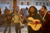 Lovely music is played at Plaza de la Paz de San Cristóbal