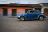 Panning a Volkswagen Beetle in Real de Guadalupe