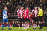 Mark van Bommel talks to the referee