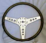 Les Leston Steering Wheel with Vinyl rim, not wood $295