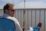 Dan fishing at the Cape Romain pier