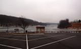 Frozen lake at Black Hill