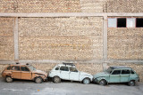 Three old Citreon 2CVs - Esfahan