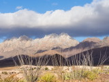 Organ Mountains from Talavera, east of Las Cruces, after the first light snow of the winter