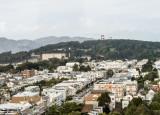 View of Golden Gate Bridge from De Young Museum