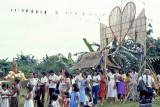 Procession honoring patron saint of community