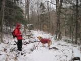 Glinda and I on the trail