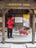 Me and Glinda at Adirondack Lodge - Trail Sign In