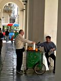 Orange cart man