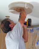 SolaTube Install - Drilling Kitchen Ceiling