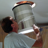 SolaTube Insertion into Ceiling