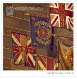 Historic regimental flags, Liverpool Cathedral