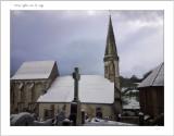 Wismes église  sous la neige