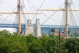 Ben Franklin Bridge and the Moshulu