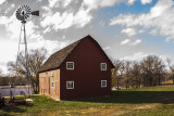 Another angle showing the red barn and windmill in Glennwood IA.