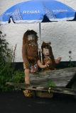 Caveman and woman.