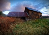Old barn in the early light in Ossipee NH