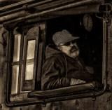 The 7074 steam train engineer.