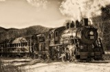 The 7470 steam engine in the white mountains of NH.