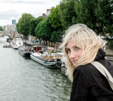 Aneta on Pont des Arts, Paris